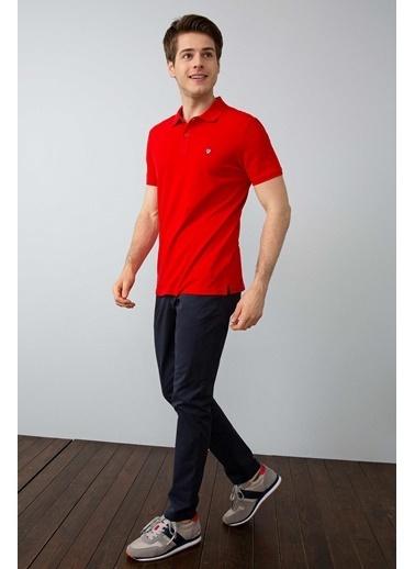 U.S.Polo Assn. Slim Fit Polo Yaka Tişört Kırmızı